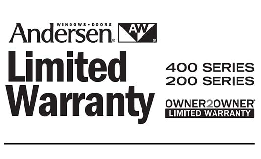 You are currently viewing Andersen 200 and 400 Series Limited Warranty