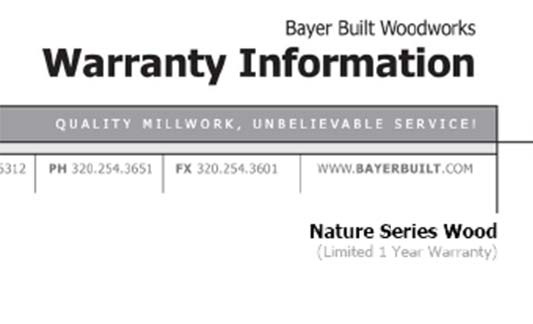 You are currently viewing Bayer Built Doors Nature Series Limited Warranty