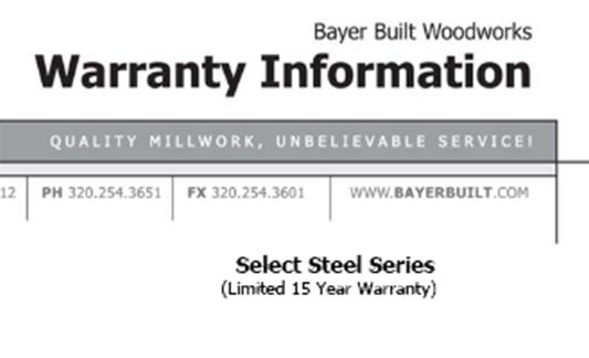 You are currently viewing Bayer Built Doors Select Steel Limited Warranty