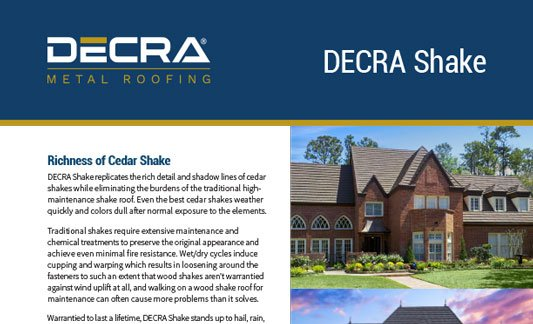 You are currently viewing DECRA Roofing Shake