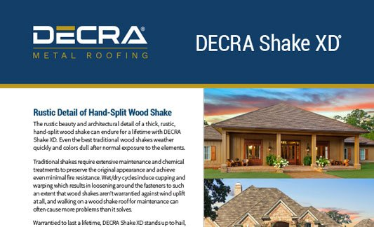 You are currently viewing DECRA Roofing Shake XD