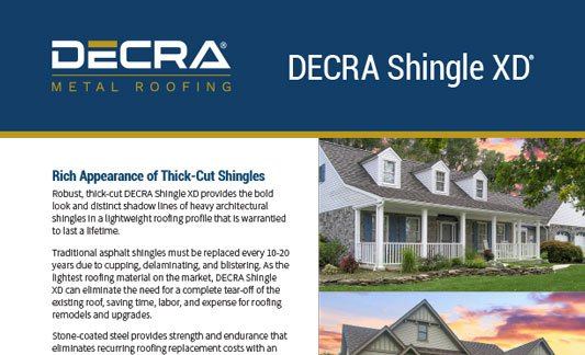 You are currently viewing DECRA Roofing Shingle XD