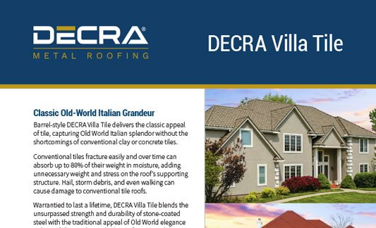 You are currently viewing DECRA Roofing Villa Tile