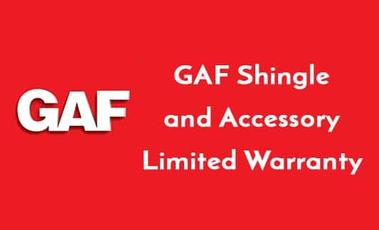 You are currently viewing GAF Shingle and Accessory Limited Warranty