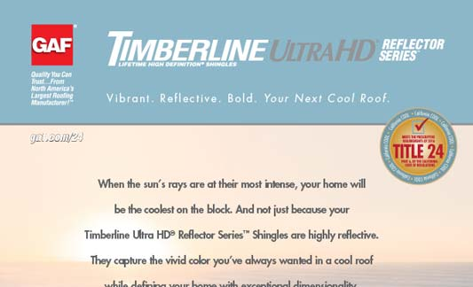 You are currently viewing GAF Roofing Timberline Ultra HD Reflector Series