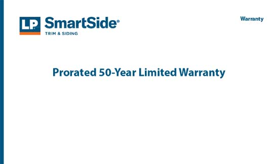 You are currently viewing LP SmartSide Limited Warranty