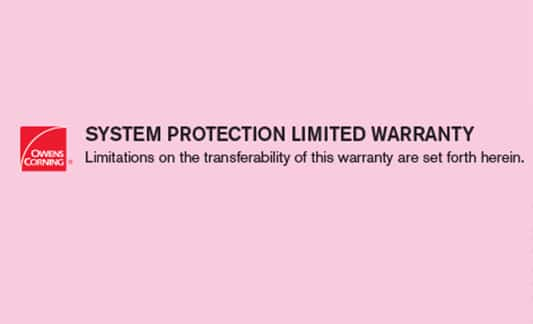 You are currently viewing Owens Corning System Protection Limited Warranty