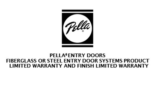 You are currently viewing Pella Fiberglass and Steel Entry Door Limited Warranty
