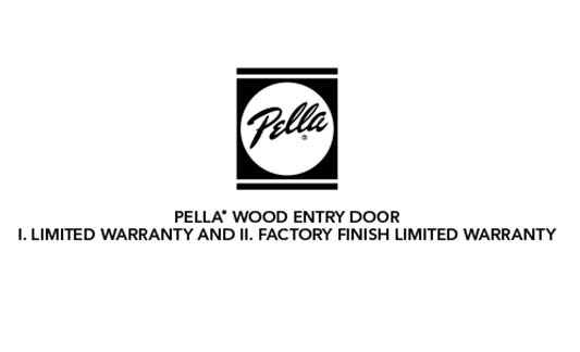 You are currently viewing Pella Wood Entry Door Limited Warranty