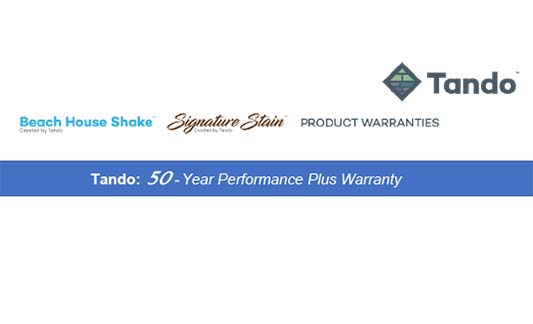 You are currently viewing Tando Beach House Shake Limited Warranty